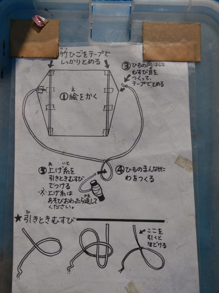 凧作り説明