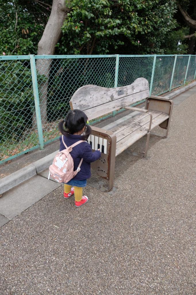 夢見ヶ崎動物公園 ベンチ